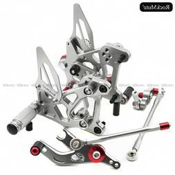 CNC Aluminum Motorcycle Rearset Rear Set Foot Pegs Pedal Foo