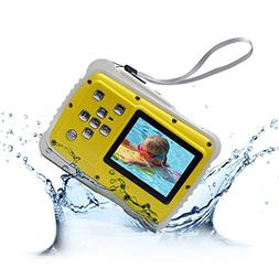 Waterproof Digital Camera for Kids, 12MP HD 3M Underwater Ca