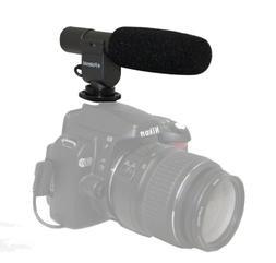Polaroid Pro Video Condenser Shotgun Microphone For The Cano