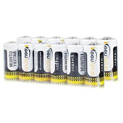 Keenstone CR123A Lithium Battery, 12 PCS Upgrade High Safety
