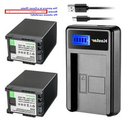 Kastar Decoded Battery LCD Charger for Canon BP-828 BP828 &