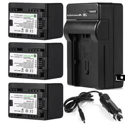 Decoded BP-727 Battery + Charger For Canon VIXIA HF R400 R50