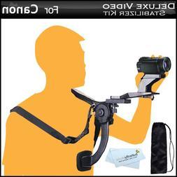 Deluxe Hands Free Video Shoulder Mount Stabilizer Support Ri