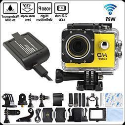 DIDONG DT71 4K Ultra HD Action Camera Wifi 1080P 60fps 16MP/