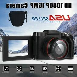 Digital Camera Video Camcorder Vlogging Full HD 1080P 16MP f
