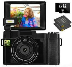 Digital Camera Vlogging Camera 30MP Full HD 2.7K Vlog Camera
