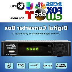Digital TV to Analog Television Converter Box W DVR Recordin
