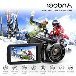 Andoer Digital Video Camera 4K WiFi FHD 1080P 24MP 16X ZOOM