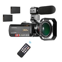 Digital Video Camera,Andoer UHD 24MP 4K WiFi Camcorder DV An