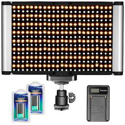 Neewer Dimmable Camera Video Light Kit: Bi-color 280 LED Pan