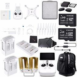 DJI Phantom 4 Pro Plus ULTIMATE Drone Kit + Sony 32GB Card +
