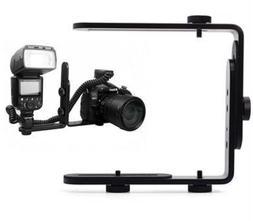 niceEshop Double L Shaped Bracket Holder Mount for Camera&Sp