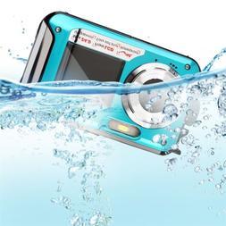 Double Screen 24MP Waterproof Digital Video Camera 1080P DV