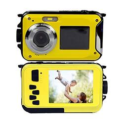 PowerLead Double Screens Waterproof Digital Camera 2.7-Inch