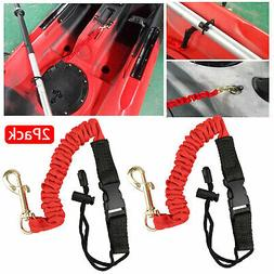 2x Kayak Paddle Fishing Leash Rope Canoe Boat Safety Coiled