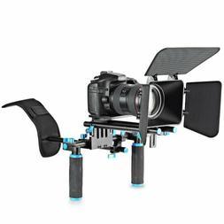 Movie Video Making Rig Set System Kit  Shoulder Mount+ 15mm