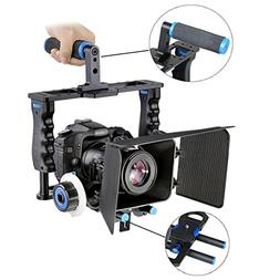 DSLR Rig Kit Camera Cage Video Support for Canon Nikon Sony