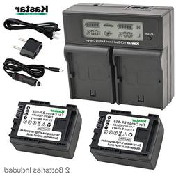 Kastar LCD Dual Smart Fast Charger & 2 x Battery for Canon B
