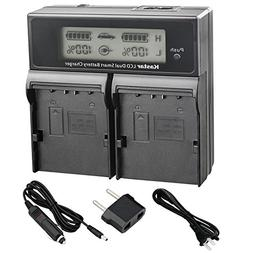 Kastar LCD Dual Smart Fast Charger Kit for JVC SSL-JVC50 and