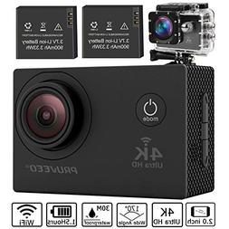Pruveeo DV200 Waterproof Sports Action Camera with WiFi, 4K