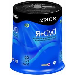 Sony DVD+R 4.7 GB Printable Recordable DVD's - 100 Disc Spin