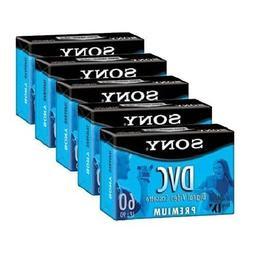 Sony DVM60PRL Premium MiniDV 60min Data Tape Cartridge 5 Pac