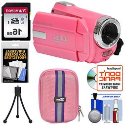 Vivitar DVR 508 NHD Digital Video Camera Camcorder  with 16G