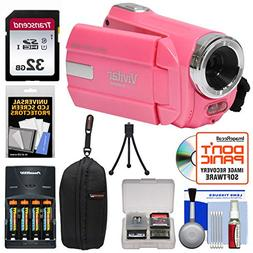Vivitar DVR 508 NHD Digital Video Camera Camcorder  with 32G