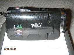 "Vivitar DVR 947HD Camcorder 2.7"" LCD 4X Digital Zoom Black"