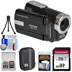 Vivitar DVR-508 HD Digital Video Camera Camcorder  with 16GB