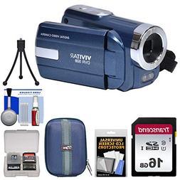 Vivitar DVR-508 HD Digital Video Camera Camcorder  with 16GB