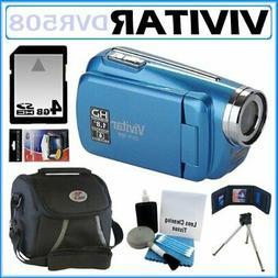 Vivitar DVR508 High Definition Digital Video Camcorder in Bl