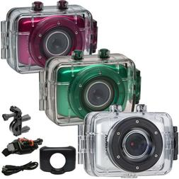 Vivitar DVR781 HD Waterproof Action Video Camera Camcorder P