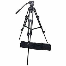 ePhotoInc Professional Heavy Duty Tripod Video Camera W/ Flu