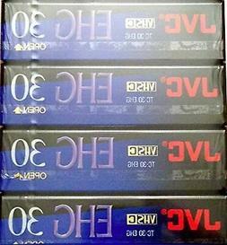 JVC EHG  30 VHS C 4 Pack