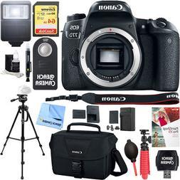 Canon EOS 77D 24.2 MP Digital SLR Camera Body w/ Case 64GB M