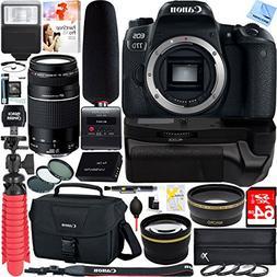 Canon EOS 77D Digital SLR Camera + EF 75-300mm F4-5.6 III Te