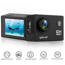 Wewdigi EV5000 Action Camera , 12MP 1080P 2 Inch LCD Screen