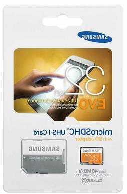 Samsung EVO 32GB Class 10 Micro SDHC Card with Adapter
