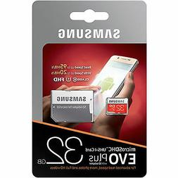 Samsung 32GB EVO Plus Class 10 Micro SDHC with Adapter