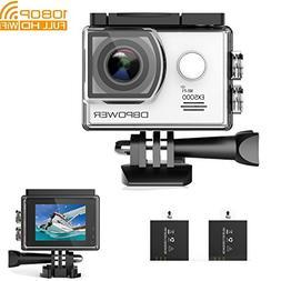 DBPOWER DB0776 EX5000 Action Camera Wi-Fi 1080P HD Sport Cam