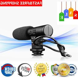 External DSLR DV Camera Camcorder Microphone Shotgun Mic for