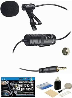 External Lavalier Microphone with 20' audio cable & Accessor