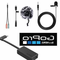 External Pro Lavalier  Microphone For GoPro HERO6 HERO 6 BLA