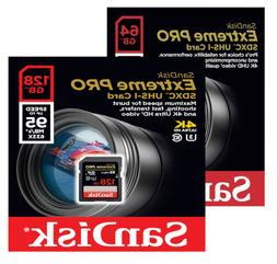 SanDisk Extreme Pro 32 64 128 256 GB Class 10 SD XC Flash Me