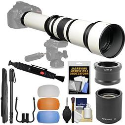 Vivitar 650-1300mm f/8-16 Telephoto Lens  & 2x Teleconverter