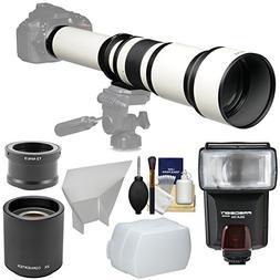 Vivitar 650-1300mm f/8-16 Telephoto Lens   & 2x Teleconverte