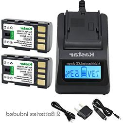 Kastar Fast Charger Kit and BN-VF808 Battery  for JVC BN-VF8