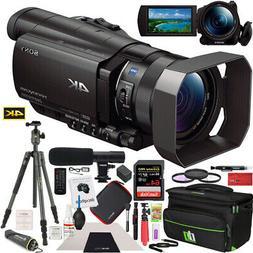 Sony FDR-AX100/B 4K UHD Camcorder Handycam Tripod Deco Gear