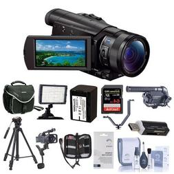 Sony FDR-AX100 4K Ultra HD Camcorder With Upgrade Accessory